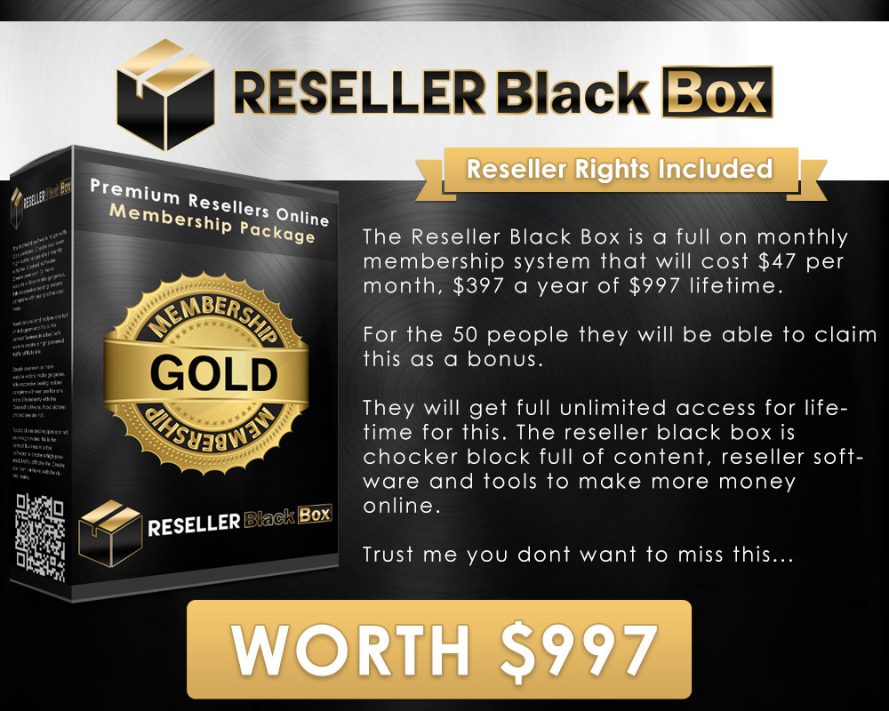 Sqribble Bonus #3 - Reseller Black Box