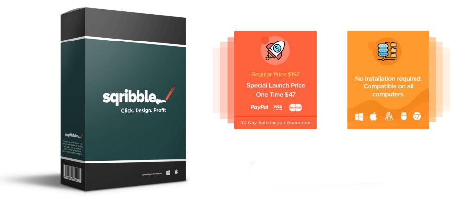 Sqribble Bonus - Click - Design - Profit