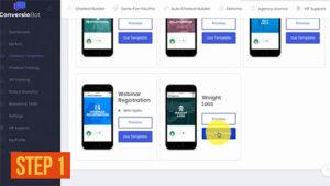 ConversioBot - A Smart Chatbot Step 1