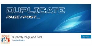 Best free WordPress plugins: Duplicate Post