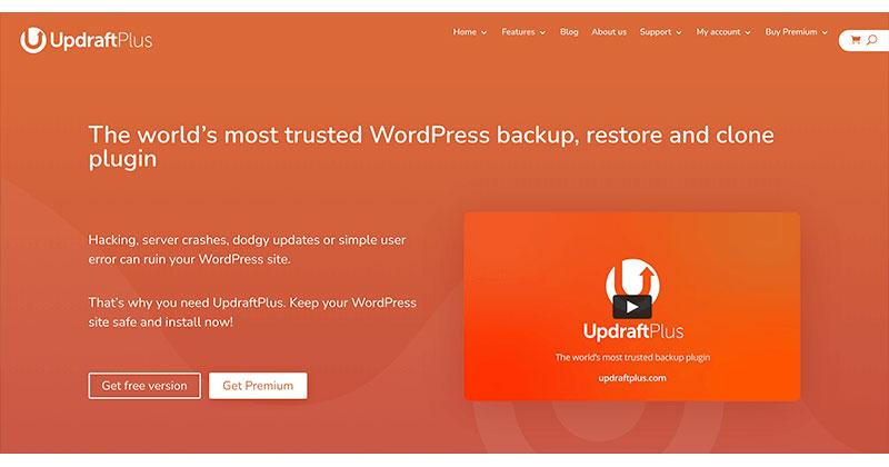 Best free WordPress plugins: Updraft Plus